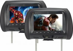 China TFT LED Screen Car Pillow Monitors Aspect Ratio 16 / 9 With USB MP5 FM Speaker on sale