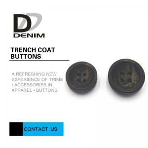 China Concave Surface Trench Coat Buttons Diverse Design With Strong Simulation on sale