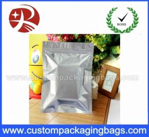 China Silver Recyclable Plastic Ziplock Bags Aluminum Foil For Cured Meat Products on sale