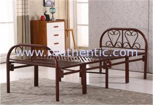 China Collapsible Twin Size Cot Bed With Steel Legs , Fold Away Queen Size Guest Bed‎ on sale