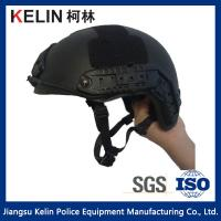 China NIJ IIIA 9mm Kevlar  Black Fast Bulletproof Helmet with Test report on sale