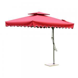 China Oxford Polyester Cantilever Garden Parasols , Tilting Rectangular Patio Umbrellas on sale
