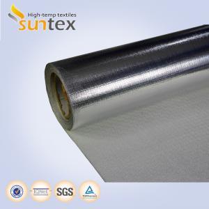 China Heat Reflective Silver Aluminum Fiberglass Cloth Laminated Glass Fiber Fabrics For Fire Blankets on sale
