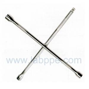 Quality S1414-Knurled chrome Cross Rim Wrench/Cross tire wrench,4 way cross rim car for sale