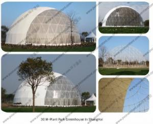 China Steel Circle Tube Outdoor Dome Tent Half Sphere Diamater 30m For Celebration on sale