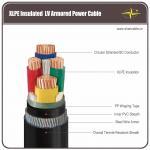 Cable eléctrico acorazado del LV del conductor de cobre, cable acorazado del alambre de acero de 4 corazones