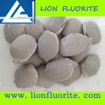 Steel-making raw material Low Silicon High Purity CaF2 90% Fluorite ball briquette type with competitive price