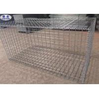 Hot Dipped Welded Gabion Box , Stone Filled Wire Mesh Wall Long Time Use