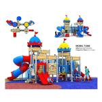 High End Residential Areas Childrens Outdoor Slide Plastic Play Structure With Slide