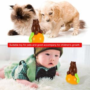 China Christmas gift tumbler cat toy funny tumbler pet cat dog toy sunds Light on sale