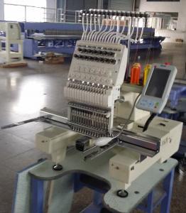 China Sola máquina principal del bordado del casquillo inteligente 3D, máquina450 x 330m m del bordado del multicolor on sale