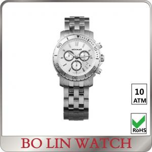 China 10ATM Chronograph Stainless Steel Sports Watch Swiss Movement Watch on sale