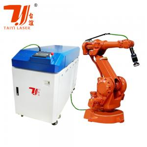 China Taiyi Automatic 6 Axis Robot Arm Fiber Metal Laser Welding Machine on sale
