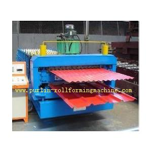 China Corrugated Roof Tile Roll Forming Machine Double Layer 0.3mm - 0.8mm for Colored Steel Tiles on sale