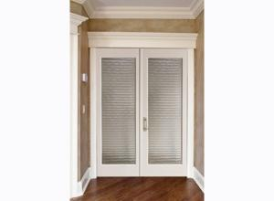 China Luxury White Custom Timber Doors with MDF / Solid Wood Frame on sale