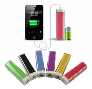China professional lipstick Mobile Power Bank 2600mAh ABS colorful power charger on sale