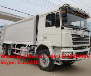 China customized SHACMAN 6*4 LHD18 cubic meters compression garbage truck for sale, HOT SALE! shacman  refuse garbage truck on sale