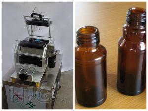 China Handheld Manual Round Bottle Semi Automatic Labeling Machine ,  Label Applicator Machine on sale