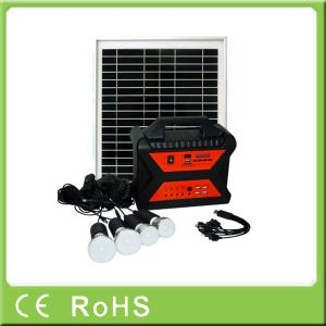 China 10w 18V off grid mini portable home power panel solar kit with radio on sale
