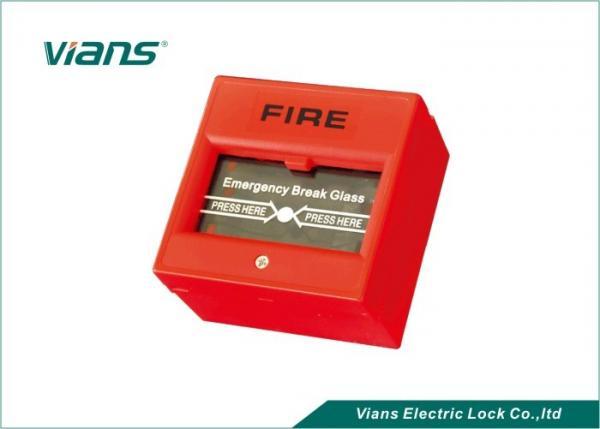 Red Break Glass Emergency Call Point Emergency Door Release Button