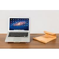 Durable Laptop Stand Smoothly Treated Cooling Wooden Surface Built In Air Breathing Slots