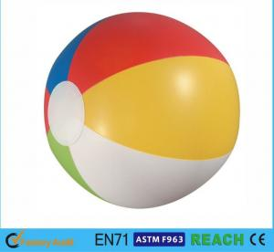 China Glossy Panel Colorful Beach Balls , High Safety Personalized Mini Beach Balls on sale