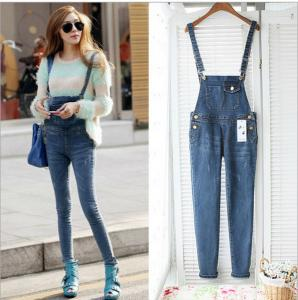 China Casual Womens Fashion Overalls , Spring Fashion Ladies Jeans Sexy Skinny Denim Pants on sale