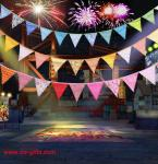 Event Party Supplies Birthday Wedding Christmas Decoration Multi-Color Fabric Bunting Penn