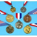 Caixa da medalha do bowling do metal da honra