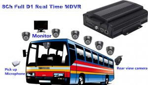 China 8 Channel Full D1 HDD Bus Mobile DVR3G / 4G MDVR Support GPS Tracking on sale