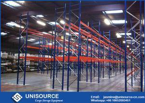 China 75mm High Density Pallet Storage Racks Adjustable Double Deep Racking System on sale