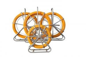 China Metal Frame Flexible Cable Duct Rodder Plastic Layer With Rubber Wheels on sale