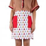 Confortável durável do avental da cozinha do algodão do agregado familiar personalizado para mulheres