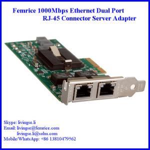 China 1G Dual Port Gigabit Server Ethernet Network Card, RJ-45 Connector, Femrice 10002ET on sale