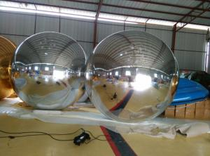 China Large Advertised Inflatable Balls For Club / Wedding Stage Decoration With Mirror Fabric on sale