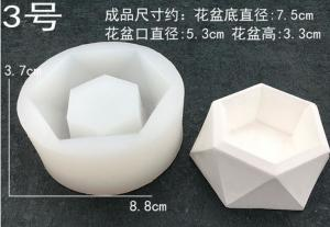 China Silicone cement mold for planters, polygon silicone concrete flower pot mold on sale