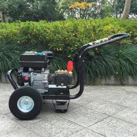 9hp 4 Stroke plunger pump gasoline high pressure washer / hot , cold water pressure washer