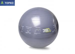 China Large Yoga Exercise Ball With Circle Logos Printing For Stretching Thighs / Lower Back on sale
