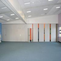 Decorative Modern Movable Office Partition Walls Hang Track On The Ceiling