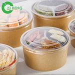 Eco-friendly Disposable heat-resistant Kraft Paper hot food bowl