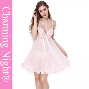 China Nylon / Polyester Girls Babydoll For Honeymoon Mature Women Sexy Nightwear on sale