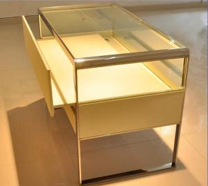 China Fashion Luxury Jewelry Display Table , Durable Metal Glass Display Showcase on sale