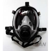 Fire Fighting Silicone Full Face Gas Mask For Breathing Apparatus SCBA Face Mask