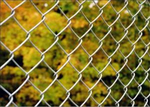China Diamond wire mesh/6ft Black Vinyl Coated Galvanized Chain Link Fence on sale