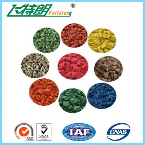 China EPDM Rubber Mat, Colored EPDM Rubber Granules for Outdoor Playground/Athletic Running Track on sale