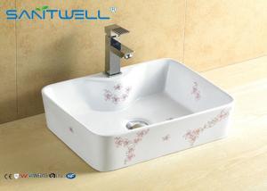 China Egg shaped basin / bathroom counter top basin original square shaped 485*380*130 mm on sale