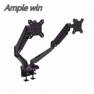 China management factory supply lcd monitor arm with cable management two screen on sale