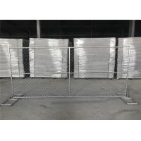 China 8FT X 12FT 12.5GA wire 38mm outer tubing temp chain link construction security fence panels on sale