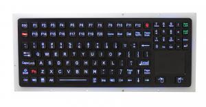 China Marine Illuminated Backlit Vandal Resistant KeyboardIP67 Black StainlessSteel Industrial on sale