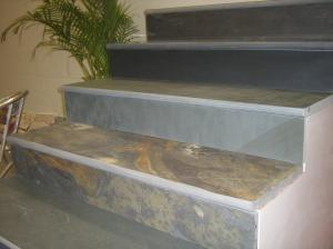 China Rusty Slate Steps Multicolor Slate Stairs with Natural Cleft Surface and Bullnose on sale